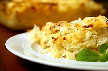 Potato, Sauerkraut and Soy Cheese Casserole