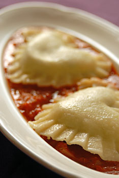 Hearty Ravioli ready to be served