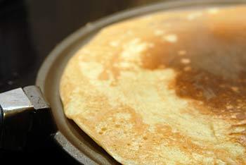 making of the pancakes