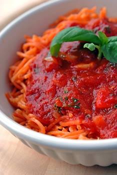Tomatoish quinoa spaghetti