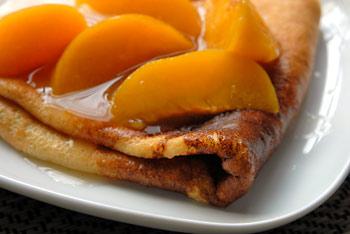 Peachy crepes