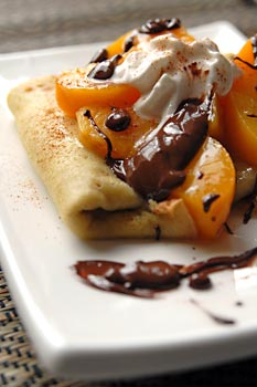 Peachy crepes