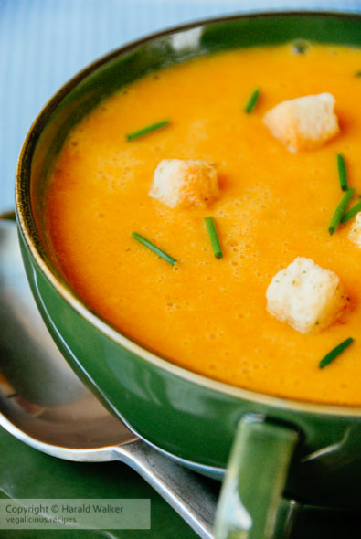 Ginger parsnip and carrot soup