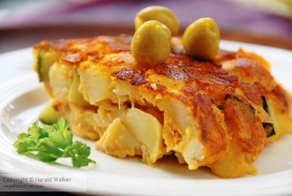 Vegan tortilla de patatas (Spanish omelette)