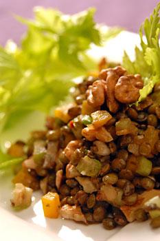 Lentil, walnut & celery salad