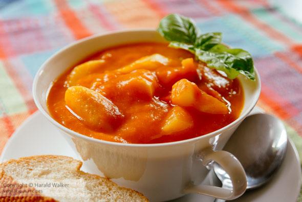 Sweet potato and asparagus soup