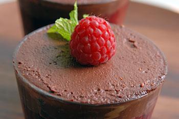 Raspbery chocolate verrine