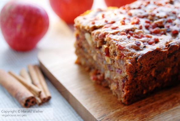 Cinnamon apple walnut bread