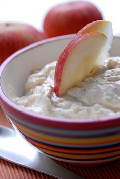 Apple soy cream cheese spread