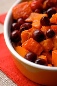 Pumpkin with cranberries