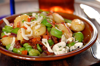 Gnocchi with fava beans