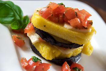 Polenta and Eggplant Napoleons