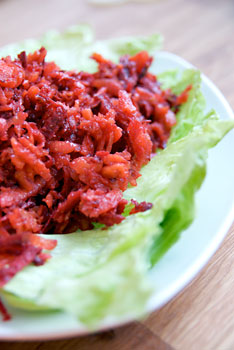 Grated Carrots and Beets