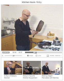 in the kitchen with Moby