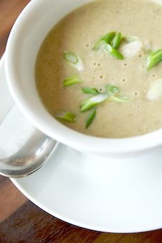 Mushroom mustard soup