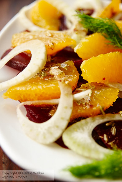 Orange beet and fennel salad