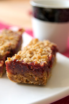 Chewy Raspberry Streusel Bars « Vegalicious Recipes