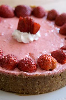 No bake Strawberry lime pie