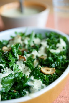 Courtney's Garlicy Kale with Tahini Sauce - Vegalicious ...