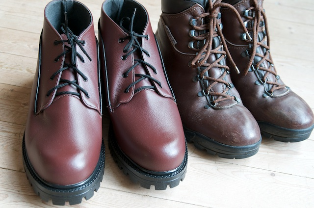 Chukka Boots compared to one year old Ranger Walking Boots