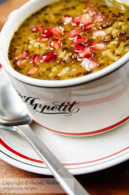 Pomegranate Lentil Soup