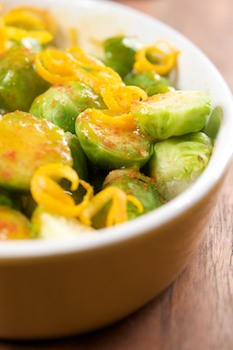 Brussels Sprouts with Orange and Chili