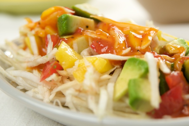 Crunchy Celery Root Salad with Mango Ginger Dressing