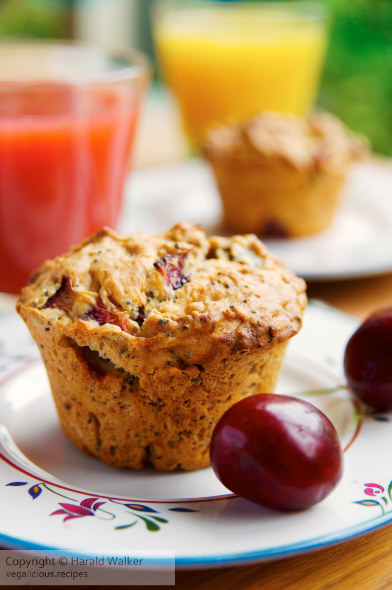 Cherry Poppy Seed Muffins