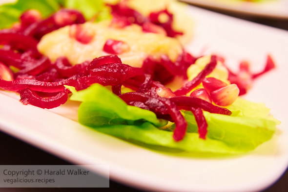 Beet Salad with Pear Chutney and Pomegranate