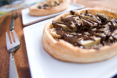 Pear Galettes with a Belgian Chocolate Sauce