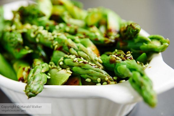 Sweet and Spicy Szechuan Asparagus
