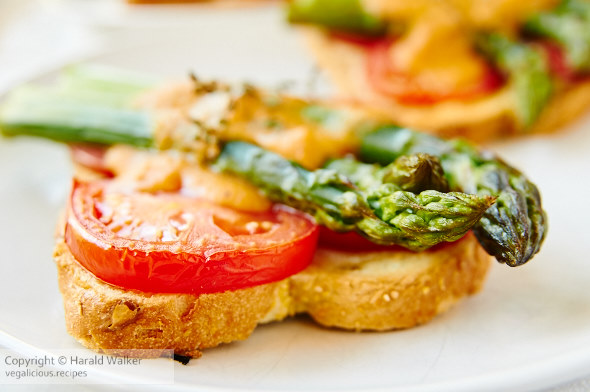 Open-faced Toasted Asparagus Sandwiches