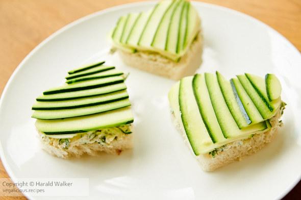 Zucchini Tea Sandwiches