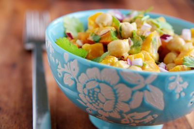 Warm Butternut and Chickpea Salad with Tahini Dressing ...