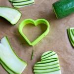 Cutting the zucchini