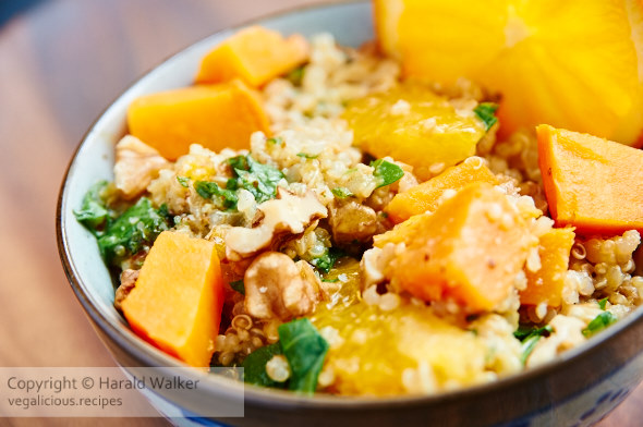 Orange-Quinoa with Sweet Potato Salad