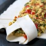 Making of Savory Vegan Breakfast Pastry
