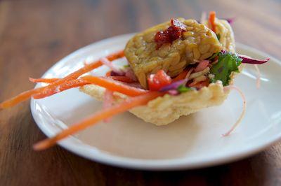 Tempeh and Sesame Ginger Coleslaw Bites
