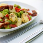 Gnocchi with Fava Beans, Sundried Tomatoes and Sweet Bell Pepper
