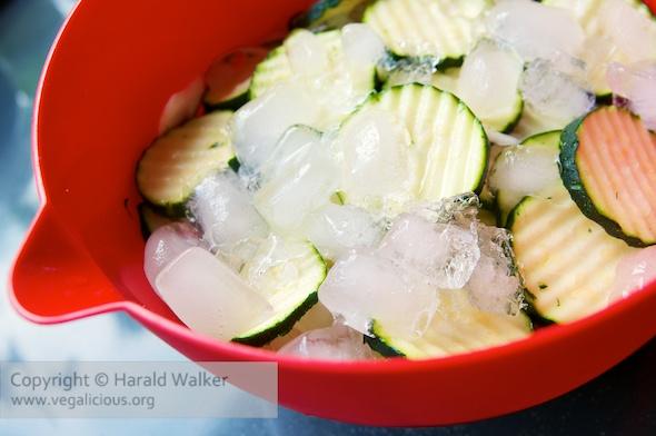 Making Crispy Pickled Zucchini