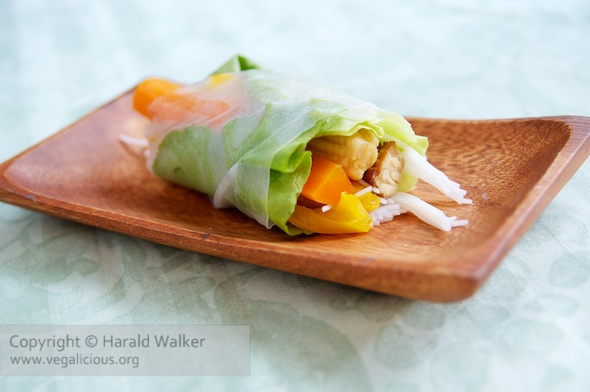 Tempeh Salad Rolls
