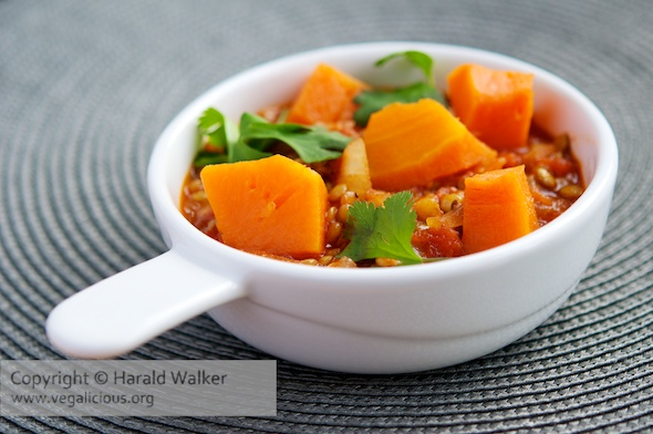 Moroccan Pumpkin and Lentils