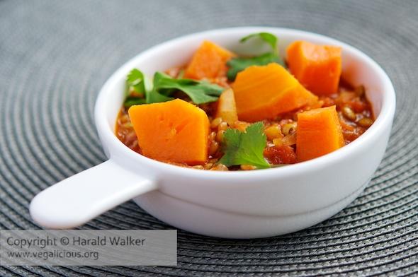 Moroccan Pumpkin and Lentils