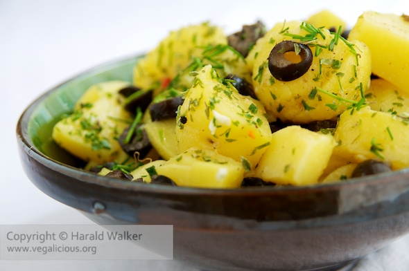 Potato Salad with Black Olives