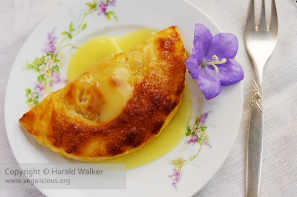 Caramelised Pineapple Turnovers with Chamomile Soy Cream