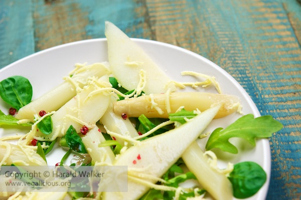 Asparagus & Pear Salad with Watercress and Rucola