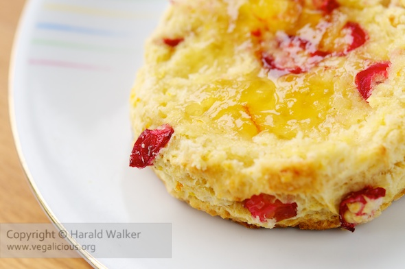 Vegan Cranberry Orange Biscuits