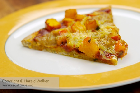 Winter Pizza - Pumpkin with Vegan Cheddar Dollops