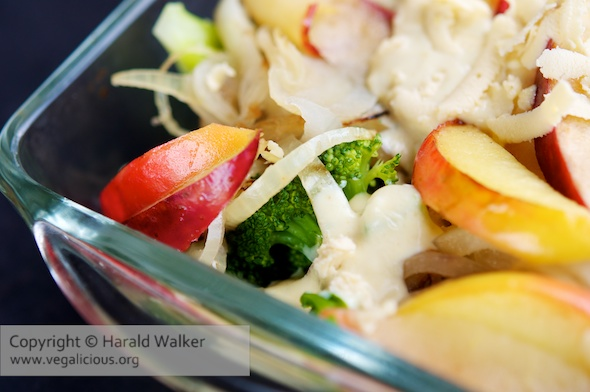 Broccoli Gratin with Apples and Onions