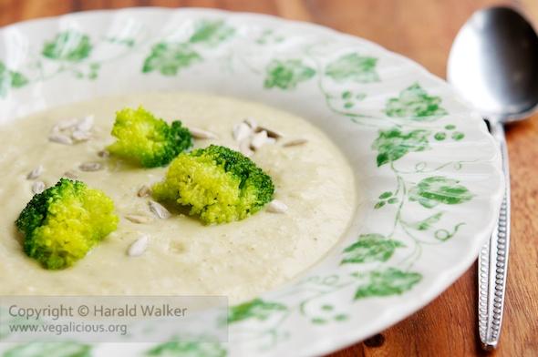 Broccoli Sunflower Seed Soup